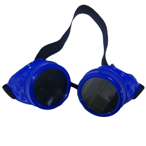 Poizen Industries Steampunk Neon Goggles CG1 - blue