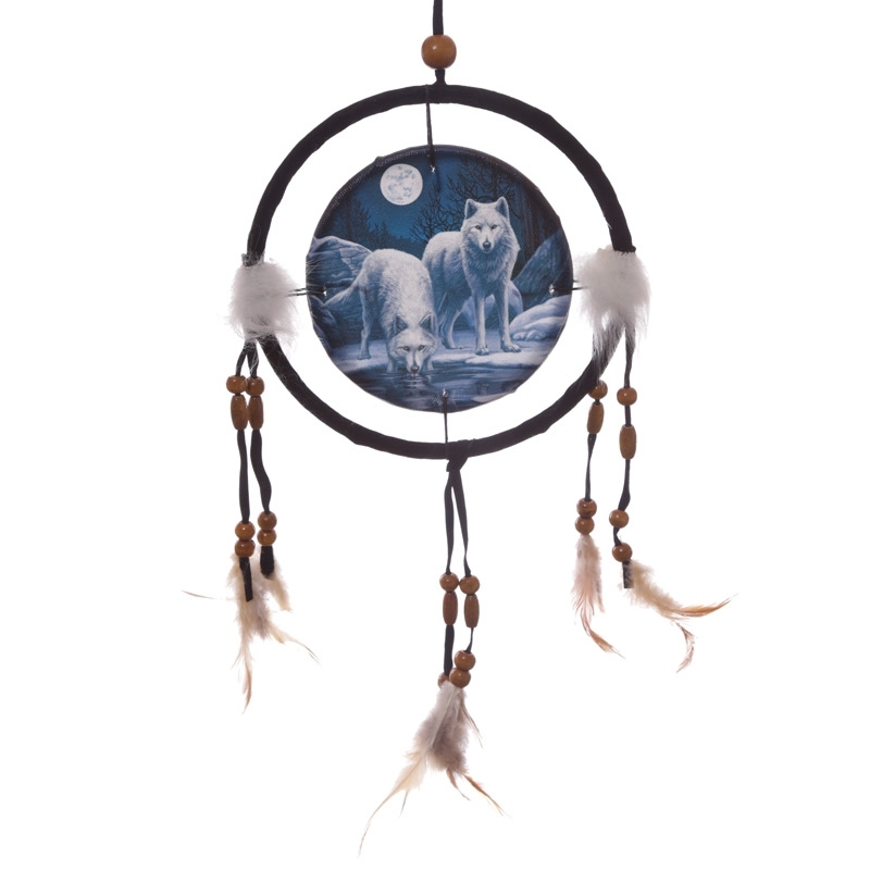 Warriors of Winter Wolf Dreamcatcher 16cm