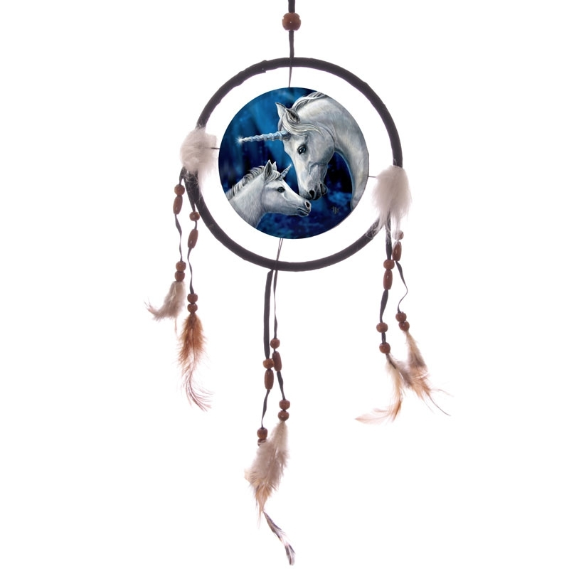 Lisa Parker Dreamcatcher - Sacred Love (Unicorns) 16cm